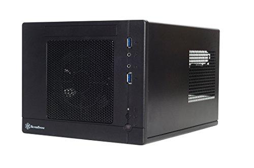 SilverStone SST-SG05BB-Lite - Sugo Mini-ITX kompaktes Cube Gehäuse, schwarz