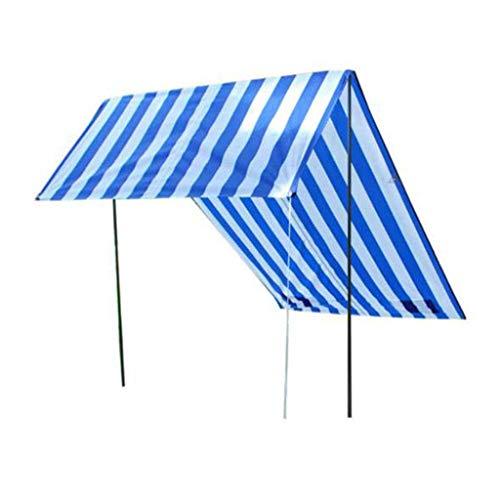 Busirsiz 3-4 Persona Tiendas de campaña Tienda de la playa, de arena Ancla, portátil techo de sombrilla, patentó esquinas reforzadas, Parasol instantánea tienda de campaña for la playa-azul Fácil de i