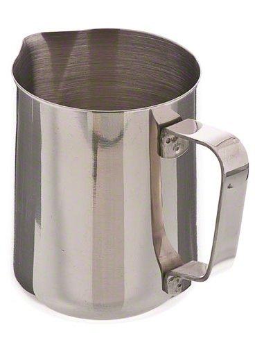 Nikgic 1 pcs 600ML en acier inoxydable mousseux pichet pour lait fantaisie et café (argent)