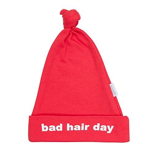 Bad Hair Jour Bonnet Bébé Coton Rouge