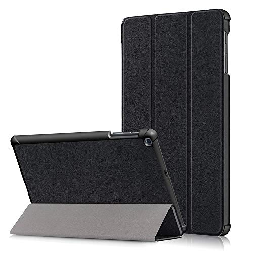 Surom Case for Samsung Galaxy Tab A 10.1' 2019 (Model SM-T510 / T515), Ultra Slim Lightweight Tri-Fold Stand Cover Case for Galaxy Tab A 10.1' 2019, Black