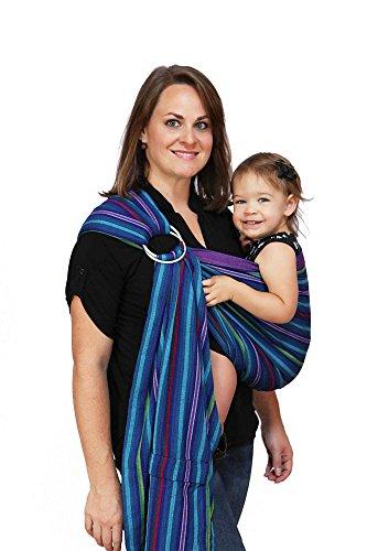 Maya Wrap Lightly Padded Ring Sling | Ergonomic Baby Carrier | Integrated Pocket...