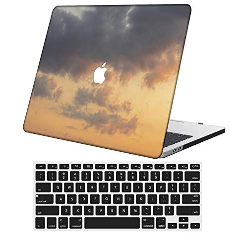 NKDCase Case for MacBook Pro 13 inch Retina Model A1425/A1502 Cut Out Design,Plastic Ultra Slim Light Hard Case Keyboard Cover Compatible MacBook Pro 13 inch No CD ROM/Touch,Colorful C 0442