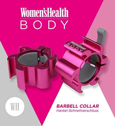 Women's Health BODY Langhantel Schnellverschluss Barbell Collar | Set von 2 Klammern - Ideal für Pro Crossfit Training - Profi Qualität
