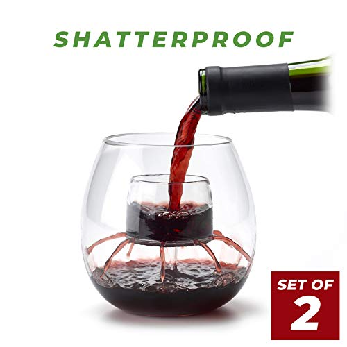 Shatterproof Aerating Wine Glasses (Set of 2)