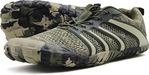 Oranginer Men's Minimalist Runner Slip-on Cross Trainer Shoes Men Camouflage Size 12