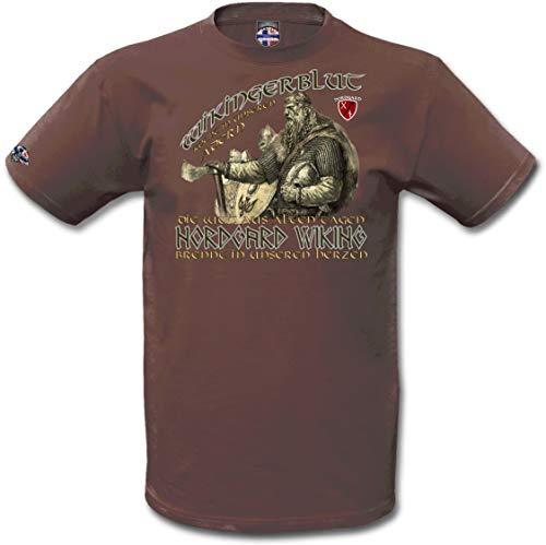 NORDGARD Shirt WIKINGERBLUT Wikinger Shirt für Damen und Herren des Modelabels (XXL)