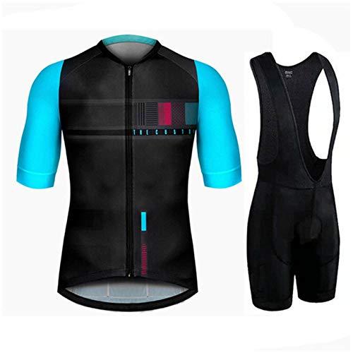 NHGFP QPM Triathlon Pro fietsshirt fietsbroek set Bike Uniform pak Fietskleding MTB Bike Kleding (kleur: Fietspak 1, Maat : 5XL)