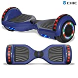 Longtime Electric Hoverboard for Kids and Adults with Speaker and Flashing Lights Safety Certified (Standard Blue)