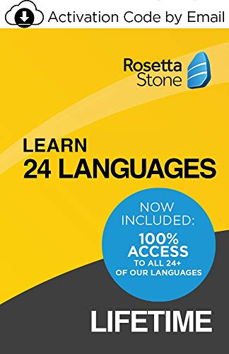 Rosetta Stone: Learn UNLIMITED Languages with LIFETIME Access - Learn 24 Languages | 1 User | PC/Mac | Activation Code by email