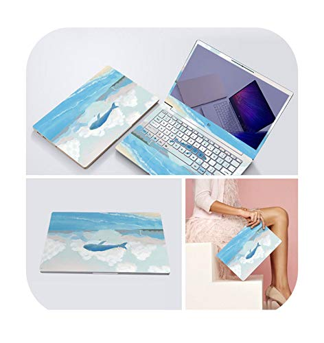 3 Sides Laptop Skin Notebook Stickers for Xiaomi Lenovo Dell Asus HP 14 15.6 inch Computer Decal Laptop Sticker Protector Case-BQ-017-For HP Pavilion G6