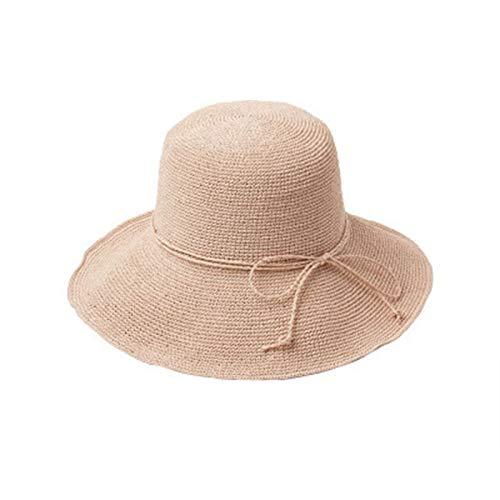 YTO Primavera y Verano Nuevo, Sombrero de Paja paop de Ganchillo Plegable, Vacaciones de Playa de Turismo al Aire Libre, Sombrero de Sol de protección Solar