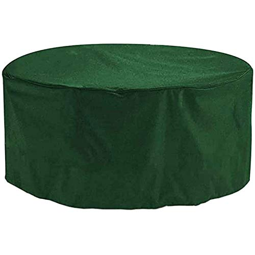 FUSHOU- Patio Furniture Cover Round, Garden Furniture Covers, Patio Table Covers Garden Furniture Covers Outdoor Fire Pit Circular Tables And Chairs Winter Covers,2 colours,Green,260x120cm