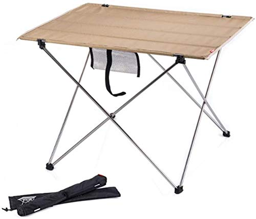 Mirui Beach chair Portable Folding Camping Table With Side Pocket Sturdy Durable Wear Resistant Tear Resistance Bearing Capacity Large For Camping Hiking Beach Party