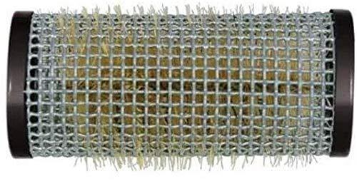 Bigoudis fil – Bigoudis en métal avec poils 28 mm noir