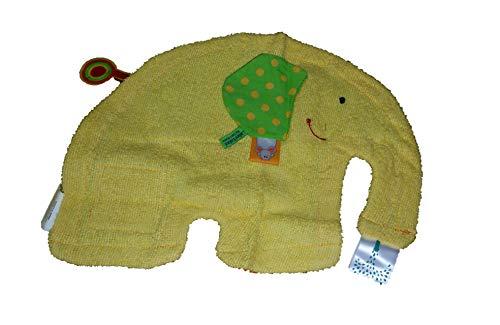 LILIKIM - Doudou label label éléphant jaune