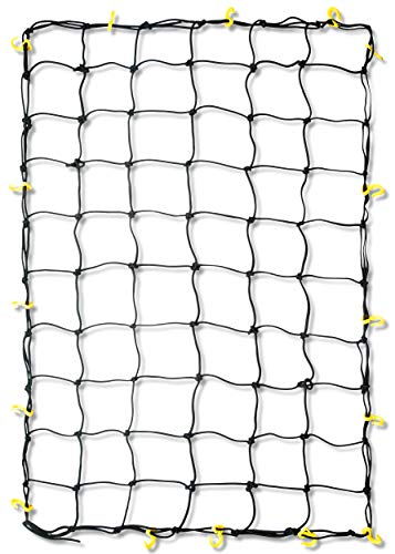Tooluxe 50969L Adjustable Cargo Net 36 x 60Inch | 16 Sturdy Nylon Hooks | Ideal for Moving Camping and Trucks