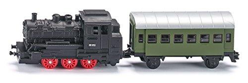 Siku 1657 - Dampflok mit Personenwagen