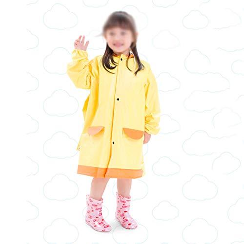 Yuycca Rainnna Kinder wasserdichte Regenjacke, Wiederverwendbar Regenbekleidung Atmungsaktiv Und Leicht Regenjacken Geeignet Für Kindergarten, Baby, Grundschüler, Kinder,Yellow,S