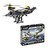 Myste Technik Hubschrauber Bausteine für Bell Boeing V-22 Osprey, CADA Transport Flugzeug Modell, 1424 Klemmbausteine Bausatz Kompatibel mit Lego Technic 42113