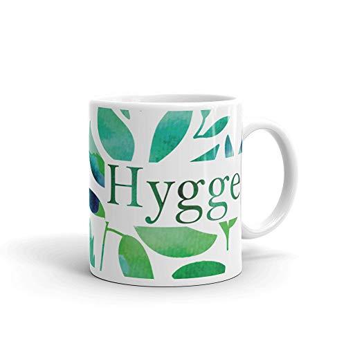 Alicert5II Hygge Aquarel blad bedrukken beker hygge beker groene hygge beker koffie beker blauwe groene aquarel beker groen blad beker hygge blad