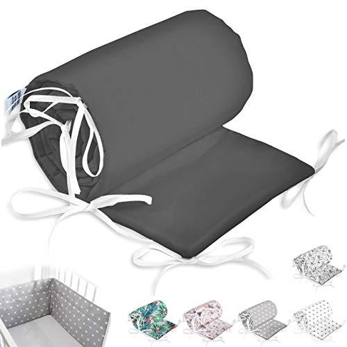 Bettumrandung Nest Kopfschutz Nestchen Babybettumrandung Bettnestchen für Babybett 70x140, 60x120 Kinderbett Beistellbett Gitterbett Handmade ekmTRADE (210x30cm, 30)