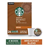 Starbucks Breakfast Blend Medium Roast Single Cup Coffee for Keurig Brewers, 4 Boxes of 24 | Great...