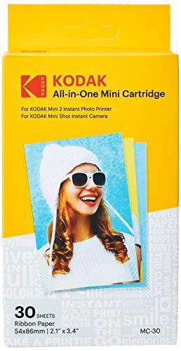 Kodak–Cartucho Mc impresión fotográfica mini, todo en uno, tinta y papel, lote de 30, compatible con cámara Mini Shot, impresora Mini 2, Paquete Surtido