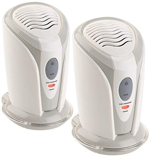newgen medicals Luftreiniger Kühlschrank: 2er-Set Mini-Ionisator & Luftreiniger für Auto, Schränke & Co. (Nano Luftreiniger)