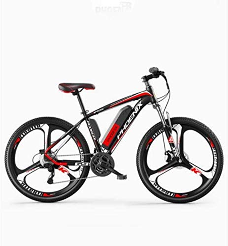 MU Bicicleta eléctrica de 26 pulgadas para adultos, todoterreno, 27 velocidades, 36 V, 50 km, 50 km, batería pura extraíble de iones de litio, 50 km, 120 km, híbrida