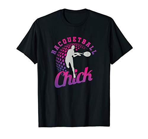 Racquetball Chick Squash Tennis Playe Girl Racket Ball Sport T-Shirt