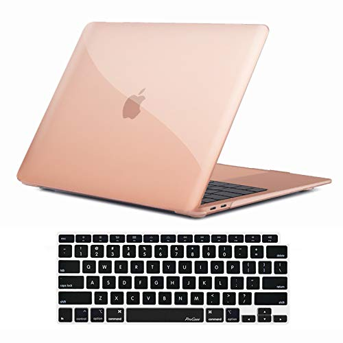 ProCase MacBook Air 13 Inch Case 2020 2019 2018 Release A2337 M1 A2179 A1932, Hard Case Shell Cover for MacBook Air 13-inch Model A2179 A1932 with Keyboard Skin Cover -Crystal