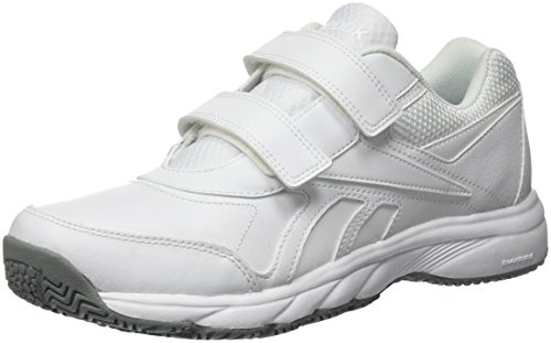 Reebok Work N Cushion KC 2.0, Zapatillas de Nordic Walking para Hombre, Blanco (White/Flat Grey), 43 EU