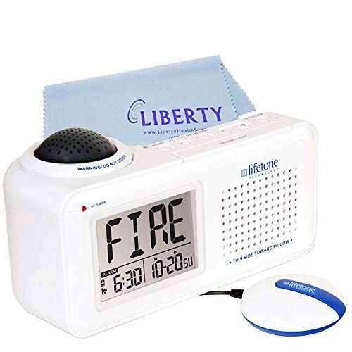 Lifetone Bedside Fire Alarm & Clock