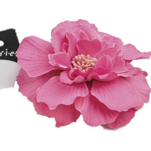 Grand Rose Vif Motif de fleur bandeau élastique bande de Front – Autres Couleurs disponibles