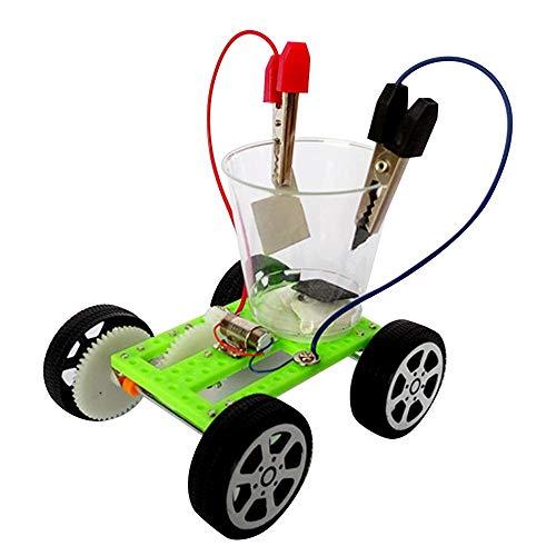 DIY Wissenschaft Gizmo Montage Kit Salzwasser angetrieben Mini Auto Physik Experiment Puzzle Spielzeug für Kinder Kinder Alter 5 + schwarz