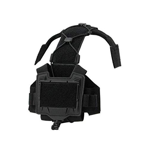 The Mercenary Company Gen 4 Hybrid NVG Battery Case & Counterweight Pouch + Cable Management System for Tactical Helmets (Black)