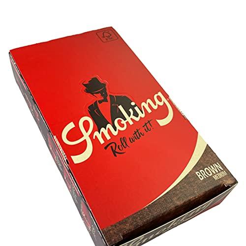 smoking [スモーキング]ブラウン 1 1/4(ワンクオーター) (78mm) ペーパー 50枚入り×25ブックレット(1箱) 手巻きタバコ 巻紙
