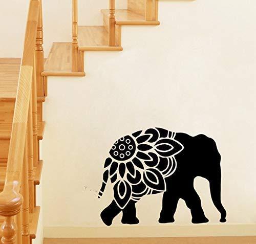 Adesivi murali in vinile Adesivi murali animali elefante Clip art Adesivi murali Decorazione murale 50X38 cm