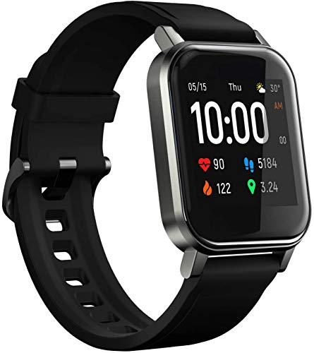 "Smartwatch Haylou LS02, Bluetooth 5.0, IP68, Tela 1.4"" LCD - 2020… (Preto)"