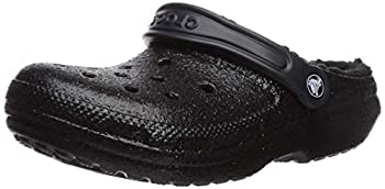 Crocs Unisex Men s and Women s Classic Lined Clog | Fuzzy Slippers Black/Black 13 US