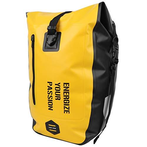 Shipenophy Bolsa de asiento trasero para bicicleta de montaña, fácil de usar y quitar, universal para mujer y hombre, totalmente resistente al agua, color amarillo