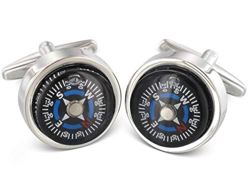 TEROON Manschettenknöpfe Kompass