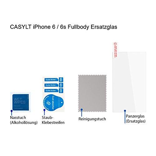 CASYLT Ersatzglas für iPhone 6 / 6s Premium Fullbody 360 Grad