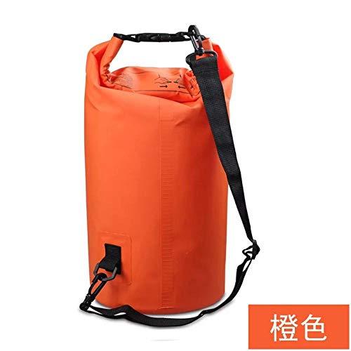 2L 3L 5L 10L 15L 20L 30L Bolsa impermeable al hombro, 7 colores, ideal para Kayak/Marismo/Canoa-Kayak/Pesca/Rafting/Natación/Camping, naranja, 10L [épaule simple],