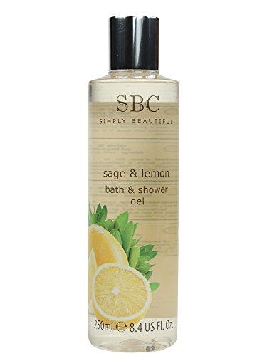 SBC Sage & Lemon Bath & Shower Gel - Salbei & Zitrone Bad- und Duschgel 250ml