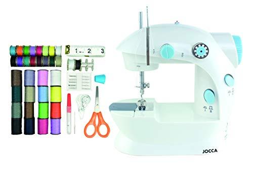 Jocca Máquina de Coser con Kit de Costura de 48 Accesorios, Blanco, 22.5