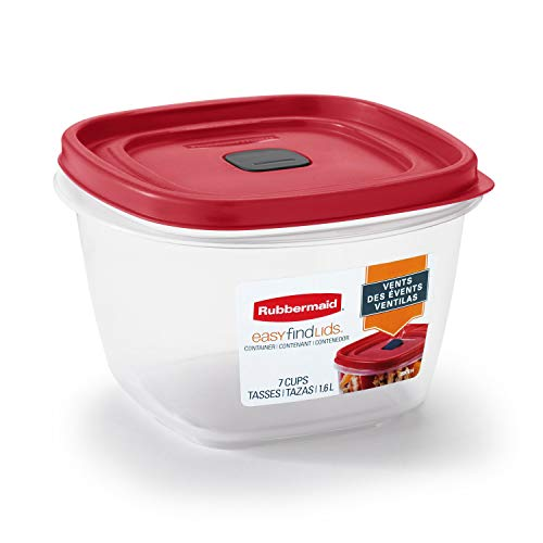 Rubbermaid Easy Find Lids 7-Cup Food Storage and Organization Container Racer Red