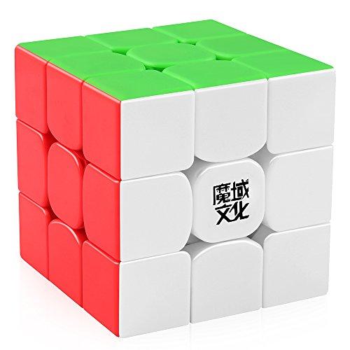 D-FantiX Moyu Weilong GTS V2 M Magnetic Speed Cube 3x3 Stickerless, Weilong GTS2 M Magic Cube for Kids Adult