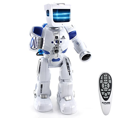 Fistone RC Robot War Warrior Remote Control Smart Robots Hydro Electric Hybrid Intelligent Interactive Action Figure Early Education Kids Toy with Dancing Singing